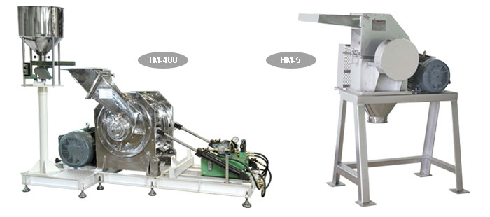 Powder handling equipments - Hammer mill HM-5 and Turbo mill TM-400