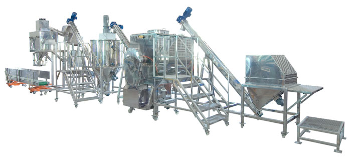 industry rotary cone mixer turnkey system