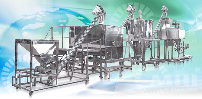 spice and herb blender powder handling turnkey system