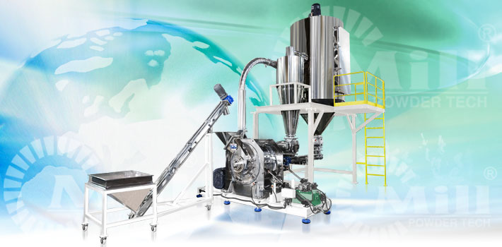 chemical foodstuff materials grinding system